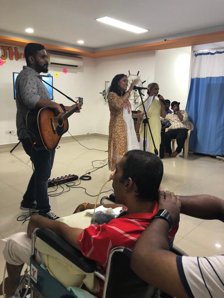 Music performance at JH Rehab